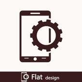 Ikona zdejmowany smartphone — Zdjęcie stockowe