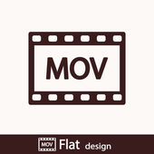 Icona video Mov — Foto Stock