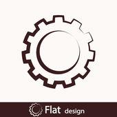 Ikona webového vybavení nebo nastavení — Stock fotografie