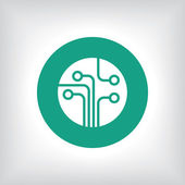Circuit board, technology icon — Foto de Stock