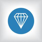 Diamond ikon illustration — Stockfoto