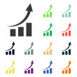 Chart icons — Stock Photo #51530725