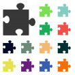 Puzzles piece icons — Stock Photo #51530769