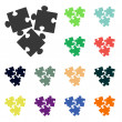 Puzzles piece icons — Stock Photo #51530911
