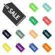 SALE tag icons — Stock Photo #51530981
