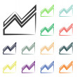 Infographic, chart icons — Stock Photo #51530997