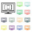 Electronic devices icons — Stock Photo #51531169