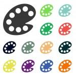 Color palette icon — Stock Photo #51531317
