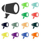 Megaphone icons — Stock Photo