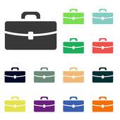 Briefcase icons — Stock Photo