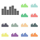 Audio icons — Stock Photo