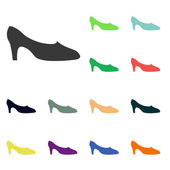 Womens shoes icons — Stock Photo