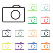 Pictogrammen van de camera — Stockfoto