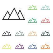 Mountain icons — Stock Photo