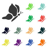 Butterfly icons — Stock Photo