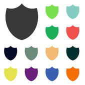 Shield icons — Stock Photo