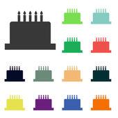 Birthday cake icons — Stock Photo