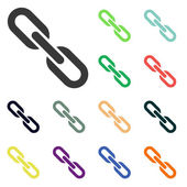 Chain link icons — Stock Photo