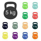 Dumbbell icons — Stockfoto