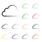 Cloud icons — Stock Photo