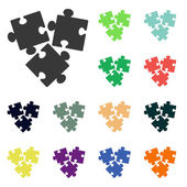 Puzzles piece icons — Foto de Stock