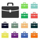 Ikony aktovka — Stock fotografie