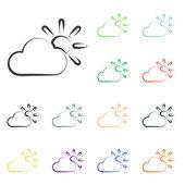 Weather web icons — Stock Photo