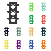 Traffic lights icons — Stock Photo