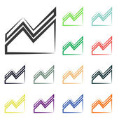 Infographic, chart icons — Stock Photo