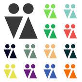 Iconos de signo masculino y femenino — Foto de Stock