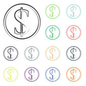 Money icons — Stock Photo