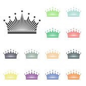 Crown icons — Stock Photo