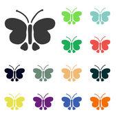 ícones de borboleta — Foto Stock