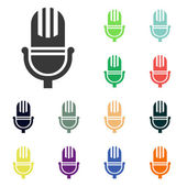 Microphone icons — Stock Photo