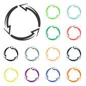 Circular arrows icons — Stock Photo