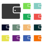 Wallet icons — Stock Photo