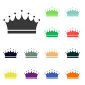 Crown icons — Foto Stock