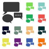 Speech bubbles icons — Stock Photo