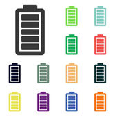 Battery load icons — Foto Stock