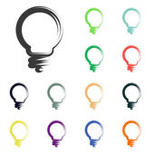 Light bulb icons — Stock Photo