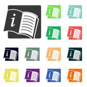 Open book icons — Stock Photo