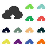 Cloud upload icons — Stock Photo
