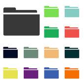 Folder icons — Stock Photo