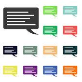 Speech bubble icons — Stock Photo