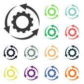Setting parameters, circular arrows icons — Stock Photo