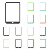 Modern digital tablet PC icons — Stock Photo
