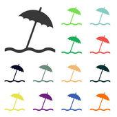 Umbrella icons — Stock Photo