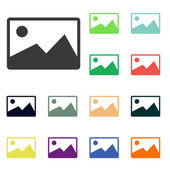 Landscape Icons — Stock Photo