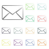 Envelope mail icons — Stock Photo