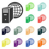 Computer server icons — Stock Photo